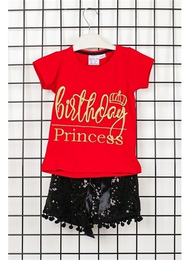 Dk Birth Day Princess Kız Çocuk Alt Üst Takım Siyah